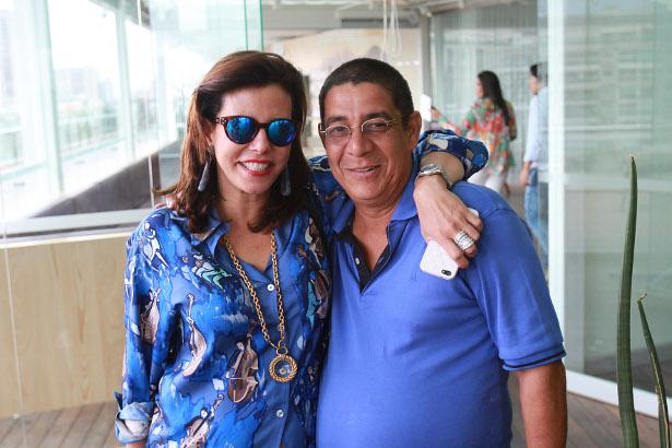 Os amigos Narcisa Tamborindeguy e Zeca Pagodinho