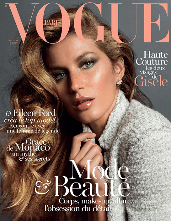 Gisele Bündchen brilha em editorial da Vogue Paris