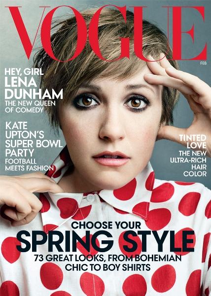 """Atriz e diretora de """"Girls"""" Lena Dunham estrela capa de fevereiro da Vogue americana"""