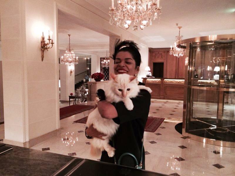 O Faraó, o gato adotado e mascote do Bristol, sempre que estou aqui faço carinho e fotinha rsrsr