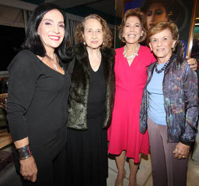 IMG_0796  LILIANA RODRIGUES, ANNA BELA GAEYER, MARIA LUCIA JARDIM E CECILIA DORNELLES