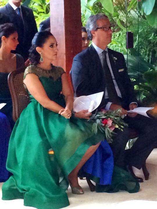 Os pais da noiva Biza e Luiz Fernando Mendes de Almeida