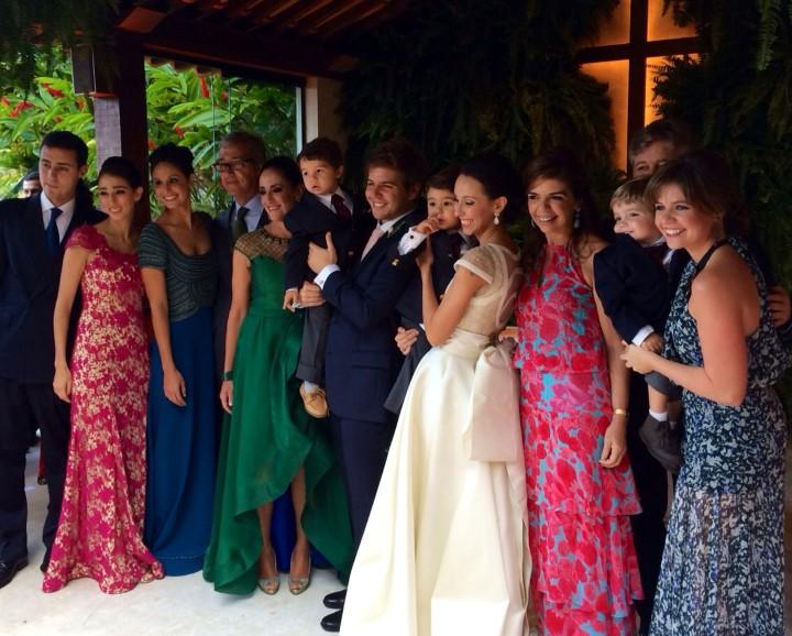 Os noivos e as famílias