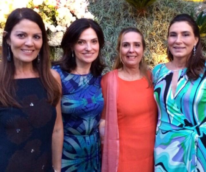 Tininha Machado Coelho, Monica Ridolfi, Maria Claudia Coimbra e Mucki Skowronski