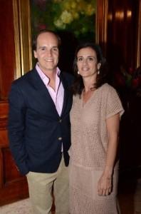 O casal Dado e Carolina Castello Branco
