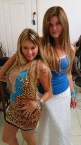 A atriz Cristiana Oliveira e Martha Hair e seu novo look