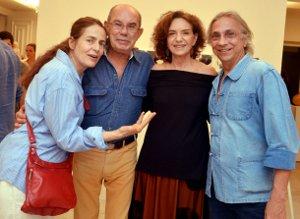 DSC_3940  Enrica Bernadelli ,  Antnio Dias , Mercedez Viegas  e Tunga   - Galeria Mercedez Viegas - 20 Anos - Dezembro 2014 - Foto CRISTINA GRANATO
