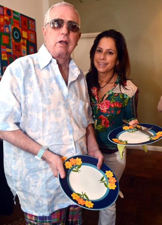 Julio Rego e Flavia Tamoyo