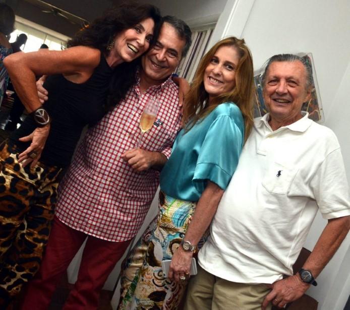 Isabela Lage, Julio e Anna Luisa Avellar e Renato Garavaglia