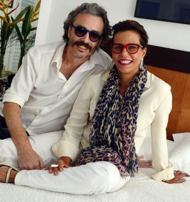 Guilherme Fiuza e Narcisa Tamborindeguy