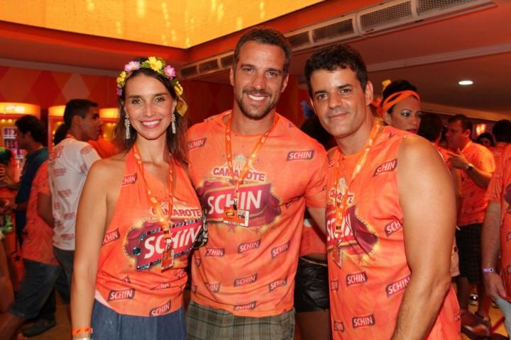 Carlos Bonow a esposa e Jorge Pontual