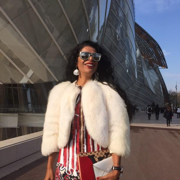 Elsaine Von Blankenhagen no desfile Louis Vuitton 11/03/15