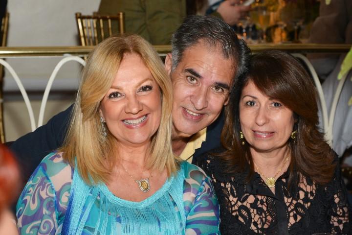 Alda Soares, Luiz Villarino e Cristina Lips