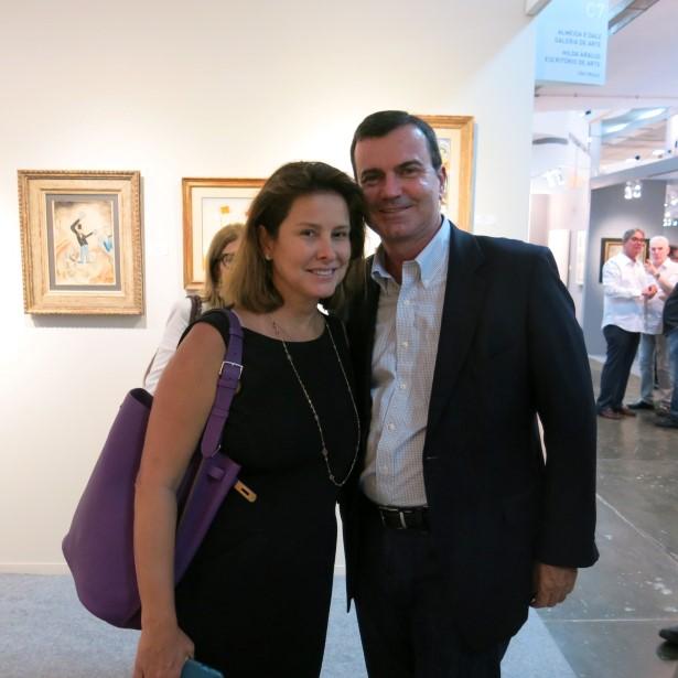 O casal César Ramos Filho e Veronica Nieckle