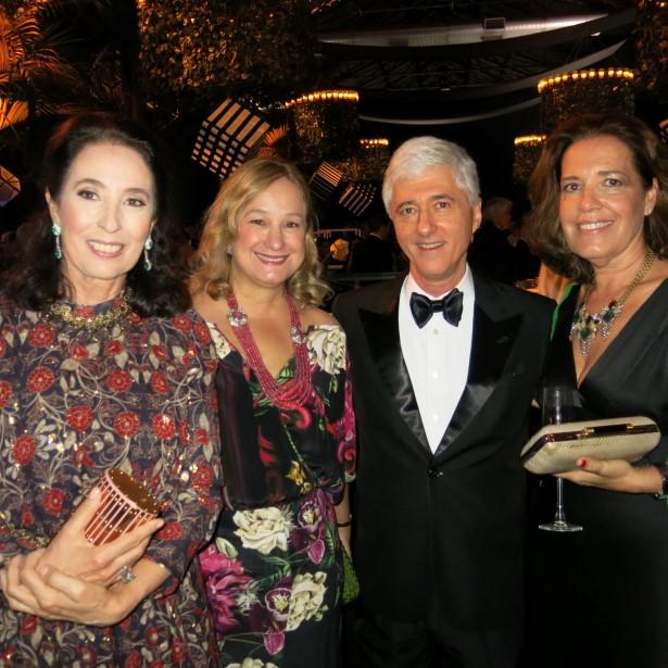 Marina Sauer, Angela Gouvea Vieira, Daniel Sauer e Martha Lorentzen