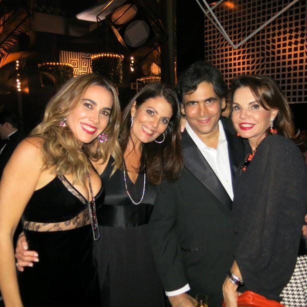 Rita Zecchin, Tininha Machado Coelho, Antonio Neves da Rocha e Patricia Mayer