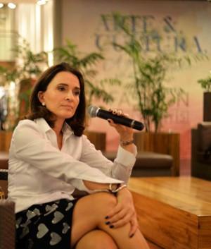 Andrea Natal diretora do Belmond Copacabana Palace a jornalista Malu Gaspar e a empresária Marlene Matos no Fashion Mondays no Fashion Mall