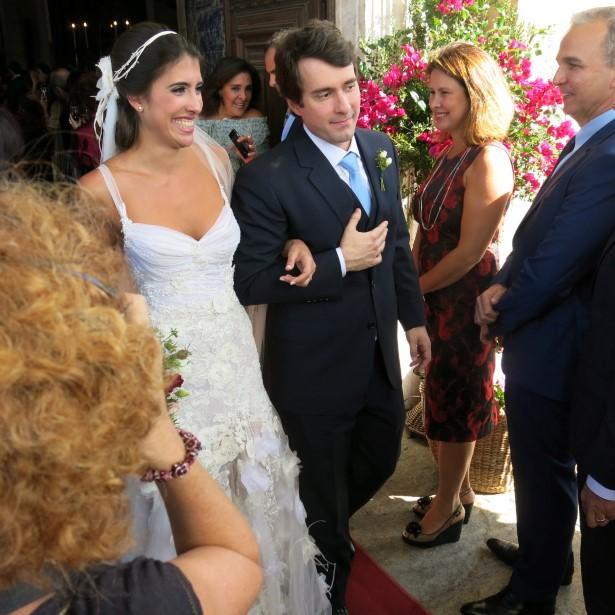 Os noivos Maria Helena Pessoa de Queiroz e Bruno Campos