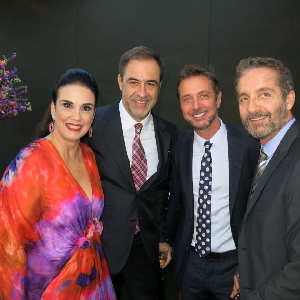 Georgeana Vasconcellos e Marzio Fiorini, Nando Grabowsky e Pedro Guimarães