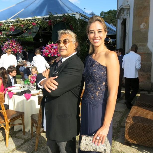 Adriano e a filha Carol Sosa Biscayzacu