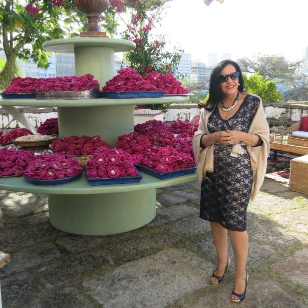 Liliana Rodrigues e a mesa dos doces