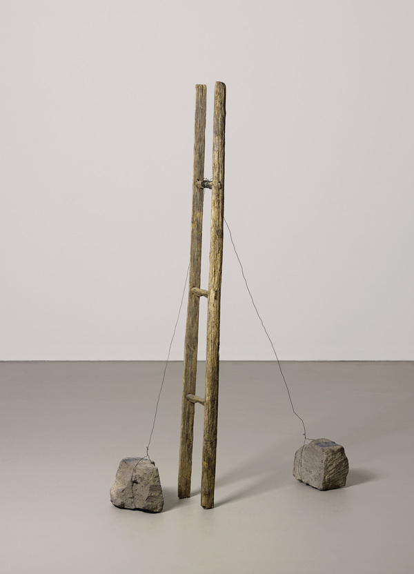 Joseph Beuys Scala Libera, 1985 Wood ladder, stone wire and paint. 190 x 37 x 52 cm © The Joseph Beuys Estate & Galerie Thaddaeus Ropac, Paris - Salzburg