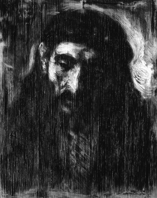Robert Longo Untitled (X-Ray of head of Christ, c. 1648-1656, After Rembrandt), 2015 Charcoal on mounted paper. 224,2 x 177,8 cm (88,25 x 70 in)