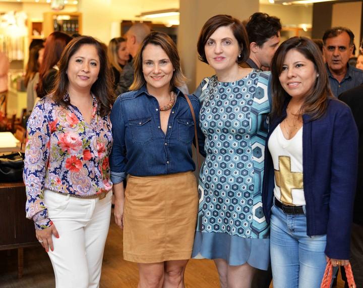 Angela Meza, Josiana Boldrini, Simone Orlean e Patricia Meza