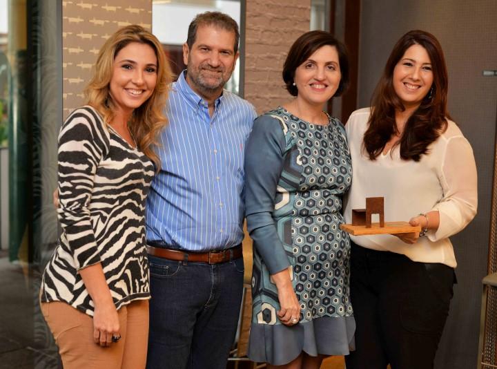 Claudia Pimenta, Jacob Orlean e Simone Orlean e Patricia Franco