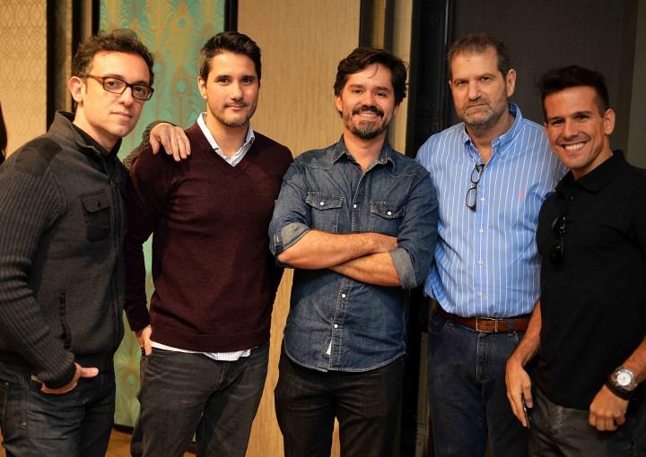 Rodrigo Jorge, Fabio Bouillet, Ricardo Melo, Jacob Orlean e Bruno Carvalho