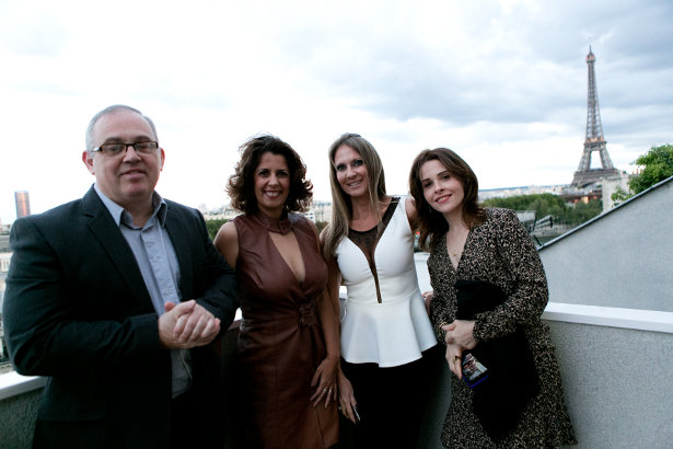 Edison Vello, Andrea Timm, Claudia Horta e Larissa Cardoso