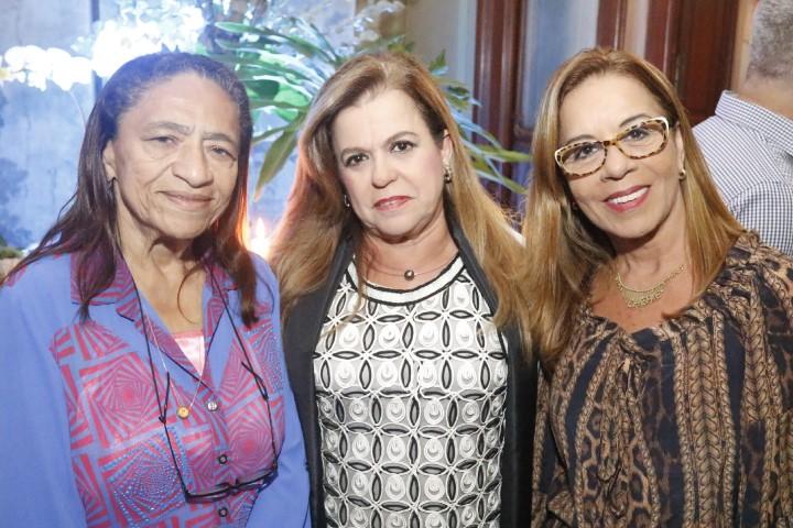 Lícia Fábio, Amélia gacez e Sylvia Gladys