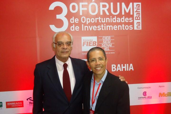 O embaixador Jório Dauster e o jornalista Paulo de Tarso