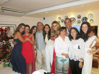 Nicole Rocha recebe no Natal a família Tamborindeguy e jet setters e muito mais