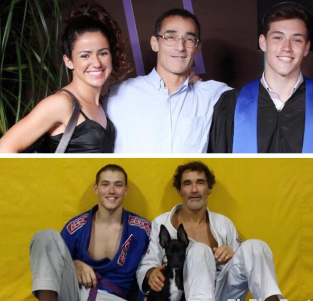 O Preparador Físico Roger de Moraes e a mulher Bia e o filho Matheus