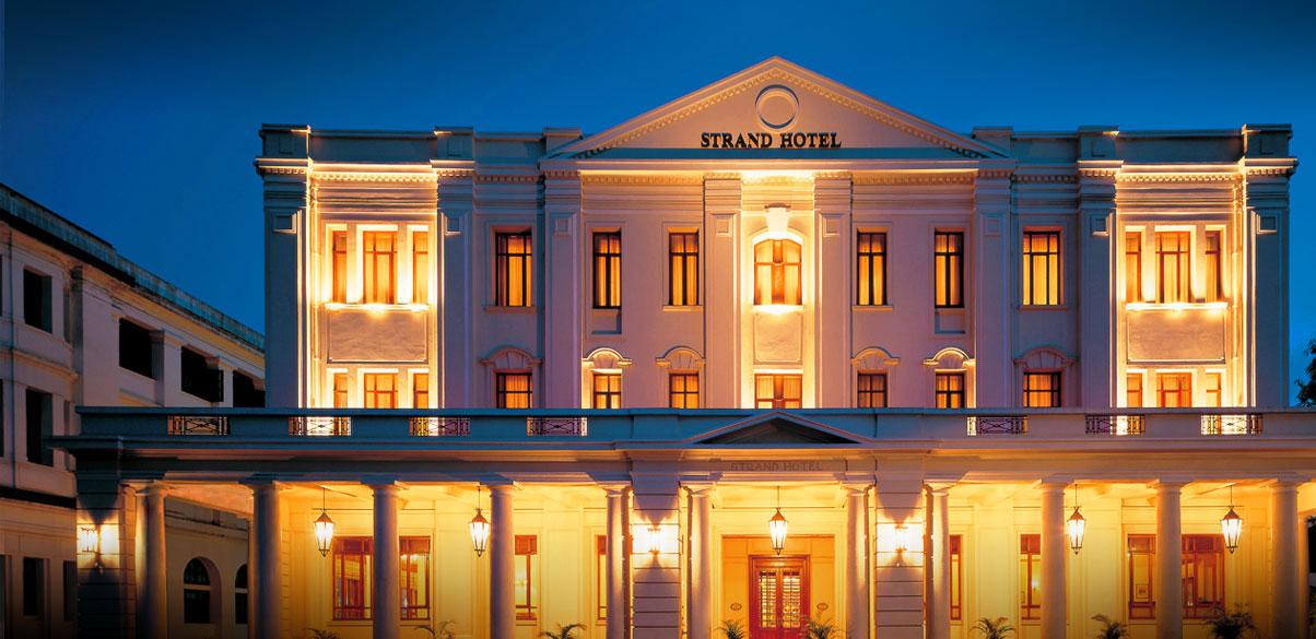 The Strand Hotel inesquecível em Yagoon, Myanmar