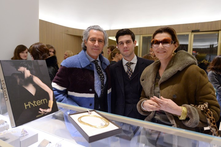 "NEW YORK, NY - FEBRUARY 11:  Carlos Souza, Alexandre Assouline and Martine Assouline attend the book launch of ""H.Stern"" published by Assouline on February 11, 2016 in New York City.  (Photo by Andrew Toth/Getty Images for Assouline)"