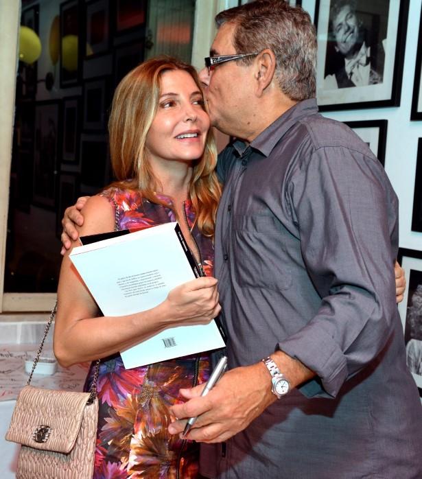 DSC_4696  Maria Padilha e Flavio Marinho  - Livro FLAVIO MARINHO - Abril 2016 - Foto CRISTINA GRANATO (Custom)