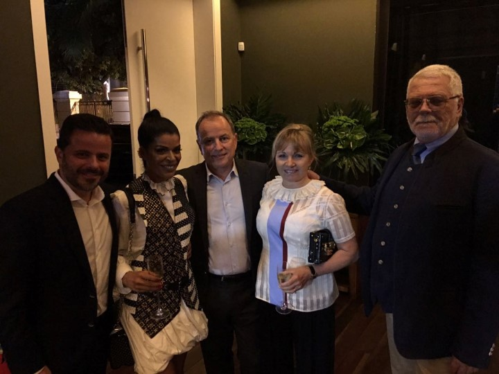 Alexandre Frota, Elsaine Von Blankenhagen, o CEO Michael Burke e Brigite Burke e Peter Von Blankenhagen