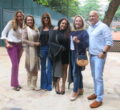 Graça Oliveira Santos arma almoço para comemorar meu aniversário no Country Club