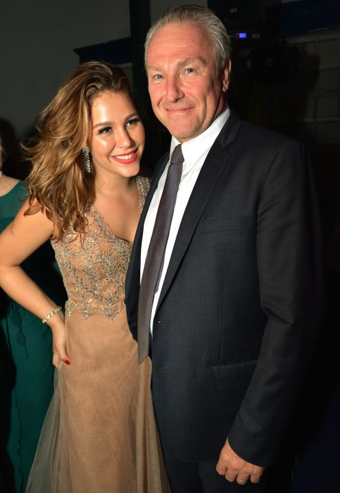 Catarina  Tamborindeguy e seu pai Caco Johannpeter