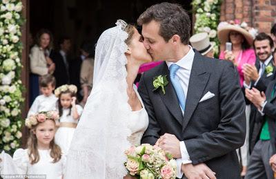 O casamento real da Princesa brasileira Alix de Ligne com o Conde Guillaume de Dampierre no Chateaux de Beloeil