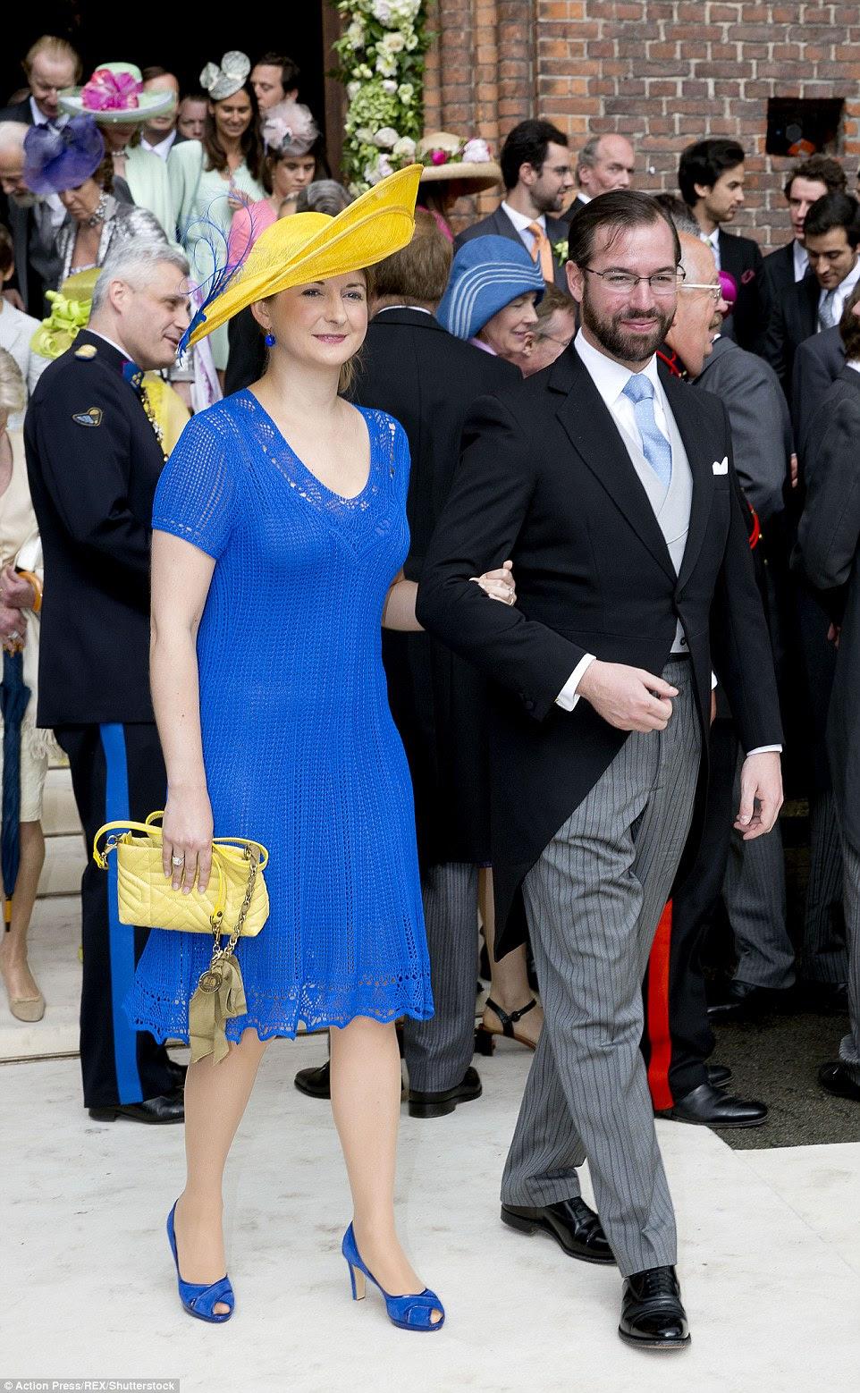 Grão-Duque Guillaume de Luxemburgo e  Princesa Stephanie também comapreceram ao casamento