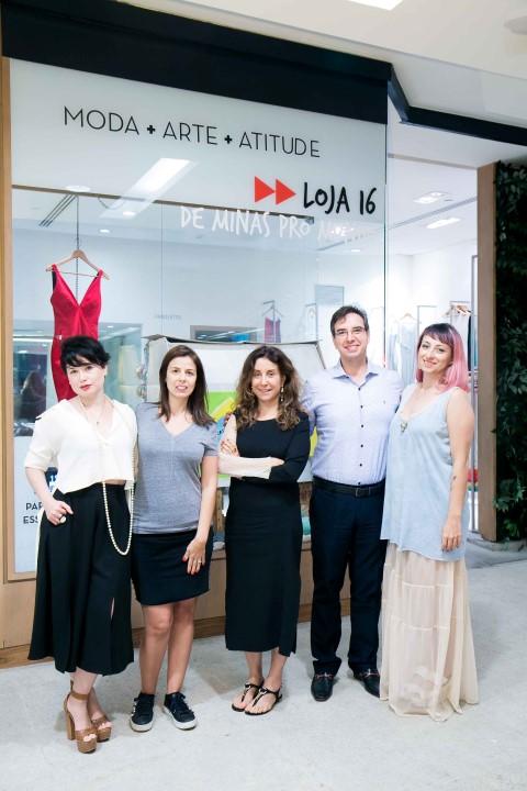 Rita Cassini, Marta Meirelles, Tereza Santos, Rogerio Vasconcellos e Barbara Monteiro