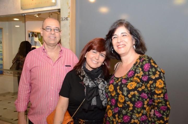 Marcos Marinho, Vania Leal e Leila Bumacher