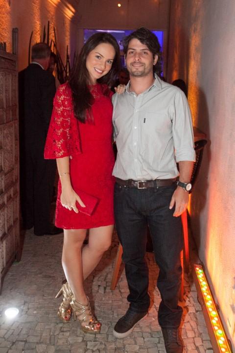 Patricia Bonaparte e Leandro Novis