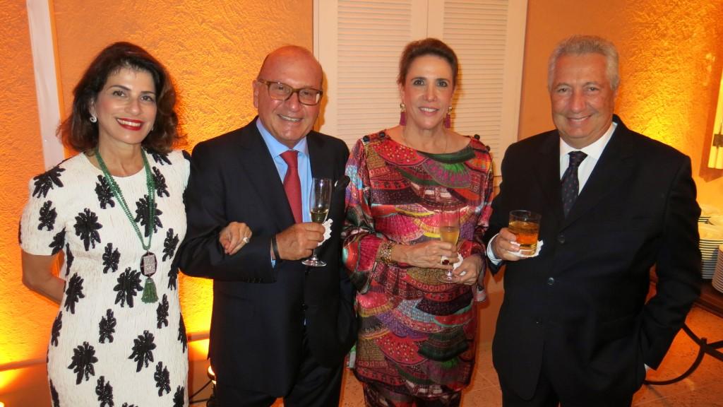 Patricia peltier, Gilberto Buffara e Marcedes Bragança e Paulo Rocco