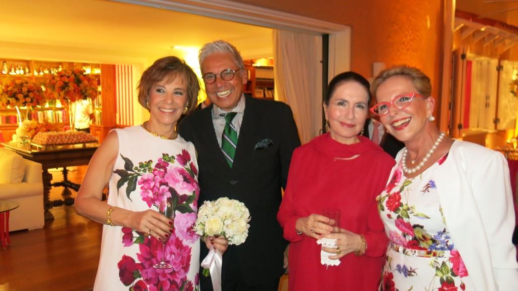 Isabelle de Segur, Ricardo Bruno, Isabel Bernardes e  Bebel Klabin