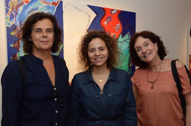Claudia Saldanha, Beatriz Milhazes e Vania Castro Lopes