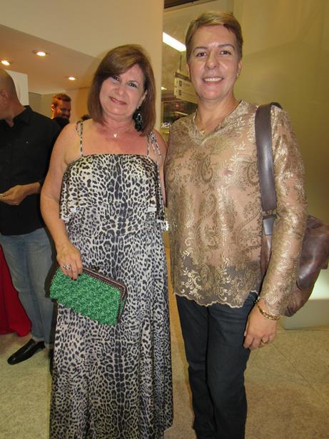 A decoradora Celeste Leão e o estilista Fábio Sande